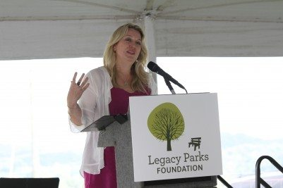 Cheryl Strayed speaks at the Legacy Parks Foundation luncheon. (Photo by Legacy Parks Foundation)
