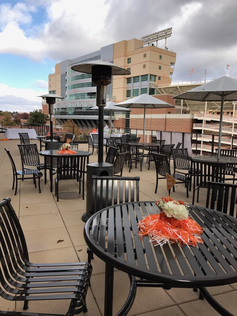 This is how close attendees are to Neyland Stadium. (Blue Streak photo)