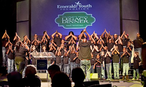 Directed by local worship leader John Jackson, the Emerald Youth choir is a highlight of the Legacy Dinner program each year.