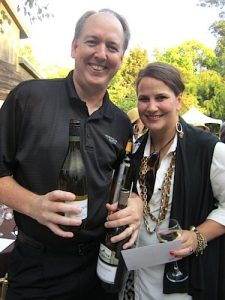 Jerry Kruse, owner of The Pour Guys, with Janet Testerman at an event at the Knoxville Zoo.