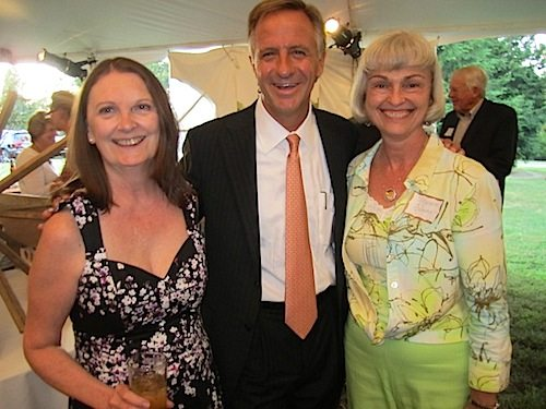Gay Lyons, left, with Gov. Bill Haslam and Margaret Gehring, a member of the family that originally owned Howell Nurseries, which today is the location of the Knoxville Botanical Garden. The gardens are a popular site for event planners in Knoxville.