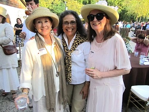 If it seems like Gay Lyons, at right, is everywhere, it's because she is. She is joined at an event at the Knoxville Zoo by Judith Foltz and Rosa Mar.