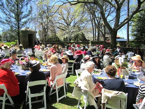 The Hats in Bloom luncheon is held in the Martha Ashe Garden at the Knoxville Botanical Garden and Arboretum.