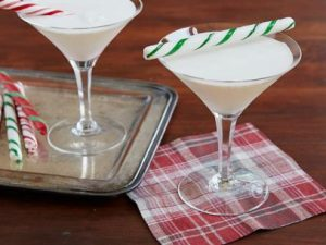 Candy Cane cocktail from the Food Network.