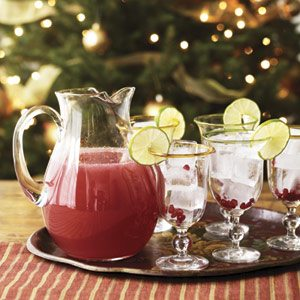 Pomegranate margaritas are a tasty and easy-to-make holiday drink.