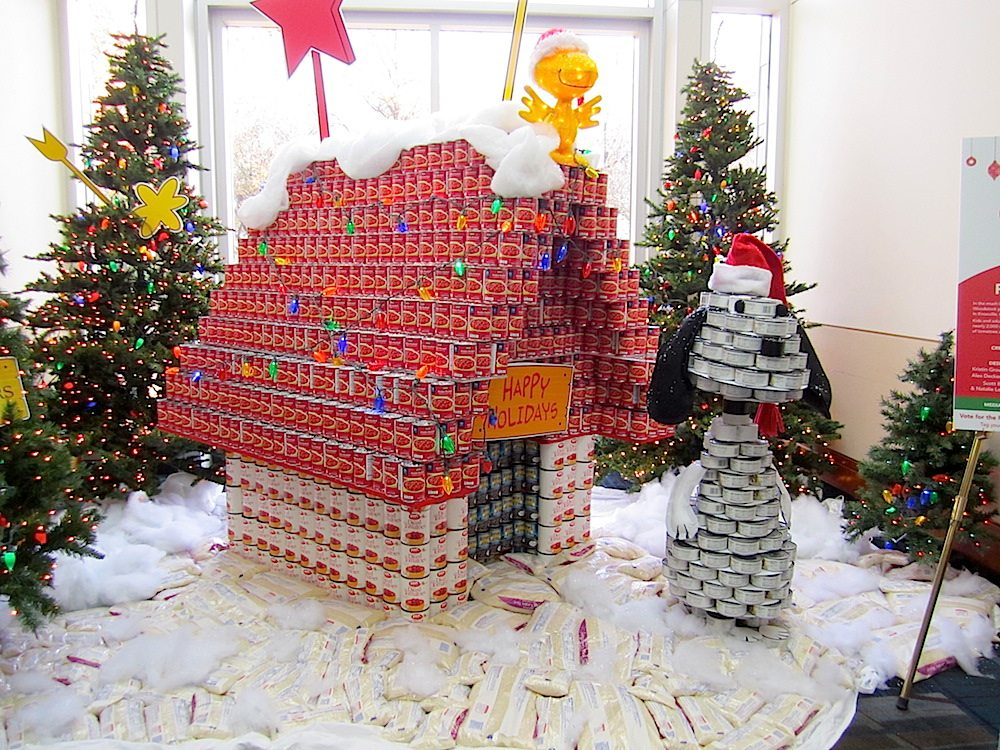 """A CANtastic Peanuts Christmas"" was the entry by Johnson Architecture, Moxley Carmichael and Partners."