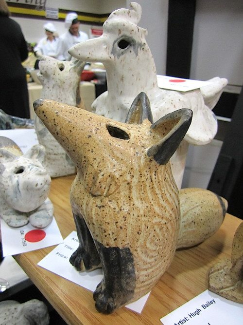These animal sculptures by Hugh Bailey were offered at Artsclamation! (Blue Streak photo)