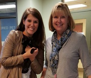 Courtney Kliman and Amy Styles of Young-Williams Animal Center.